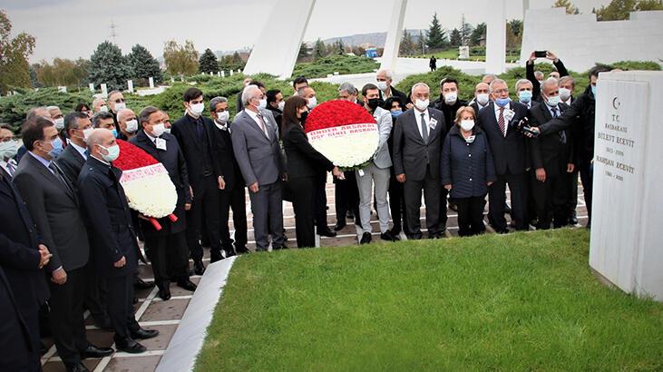 Bülent Ecevit, ölümünün 14'üncü yılında mezarı başında anıldı