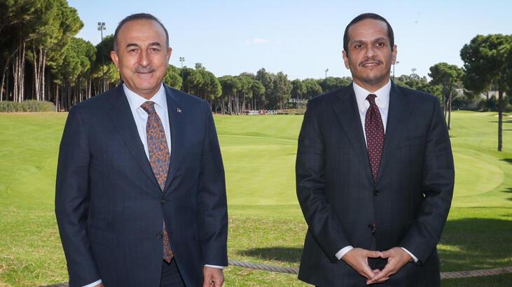Bakan Çavuşoğlu Katarlı mevkidaşı Al Sani ile görüştü