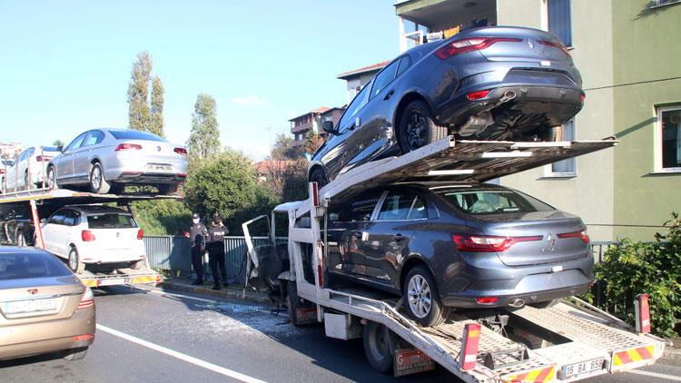 Feci kaza! Sıfır araçlar pert oldu…