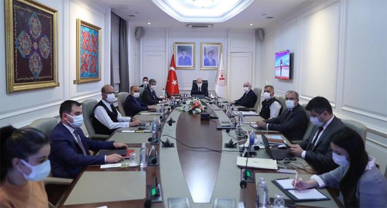 Bakan Soylu başkanlığında 'Koronavirüs Değerlendirme' toplantısı yapıldı