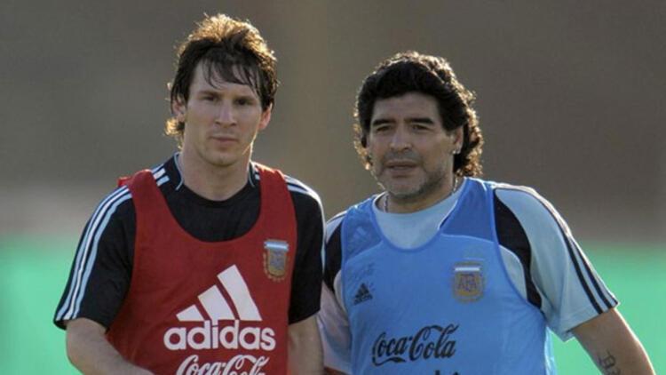 Messi'den Maradona'ya duygusal veda!
