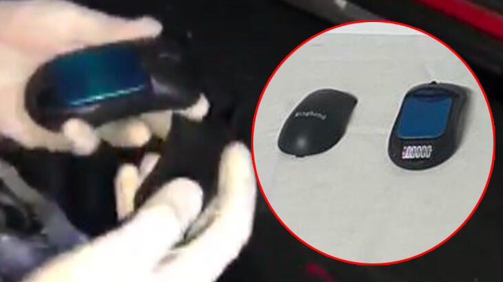Hoparlörden uyuşturucu, mouse içinden hassas terazi çıktı!