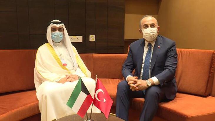 Bakan Çavuşoğlu, Kuveyt Dışişleri Bakanı ile görüştü