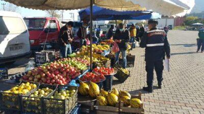 Bursa'da jandarmadan koronavirüs denetimi