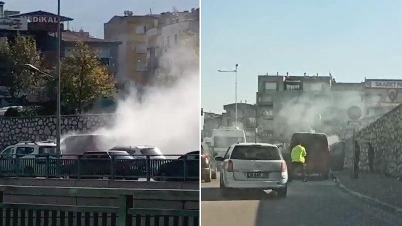 Yer: Bursa… Minibüsü ateşe verdi