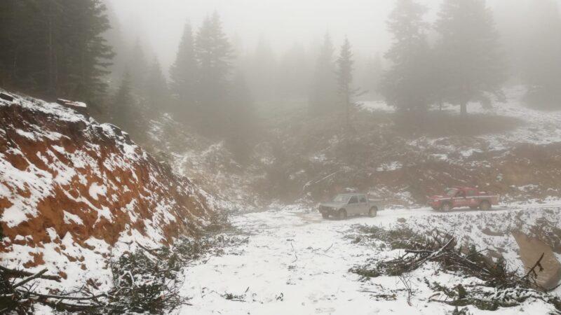 İnegöl'e yılın ilk karı düştü