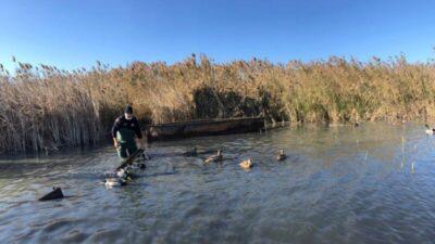 Uluabat Gölü'nde kaçak avlanan kişiye para cezası
