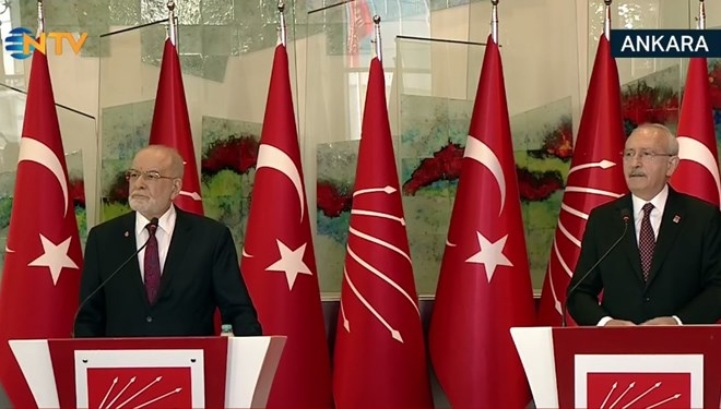 Kılıçdaroğlu ve Karamollaoğlu görüşmesi