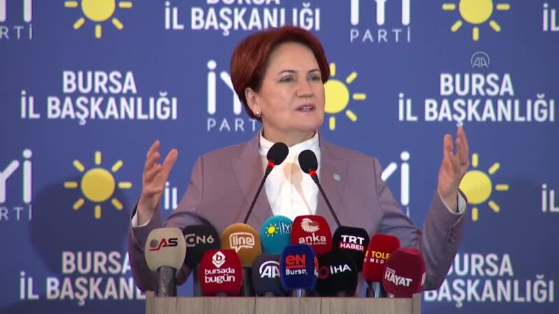 Akşener Bursa'da üye katılım töreninde konuştu