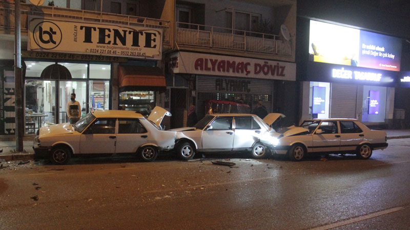 Bursa'da zincirleme kaza: Yaralılar var…