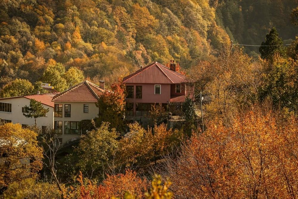 Bursa'da 'Çalıkuşu'nun köyünde' sonbahar güzelliği…