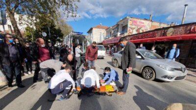 Bursa+da traktör ile motosiklet çarpıştı