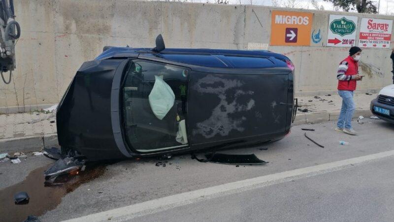Bursa'da bayan sürücü ölümden döndü
