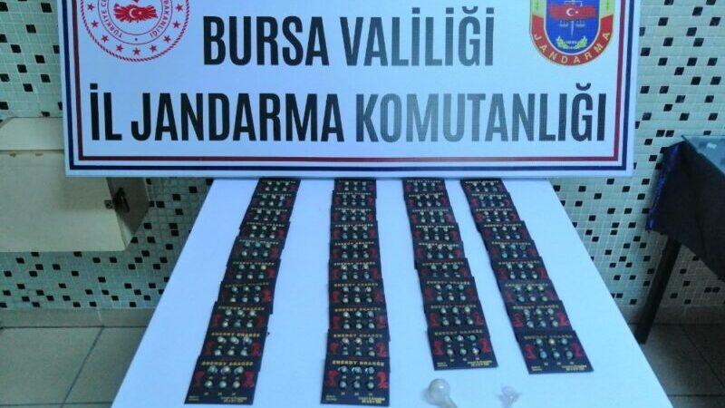Bursa'da uyuşturucu tablet operasyonu