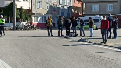 Bursa'daki kazada motosiklet sürücüsü hafif yaralandı