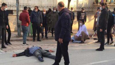 Bursa'da motosiklet ile bisiklet kafa kafaya çarpıştı: 2 yaralı