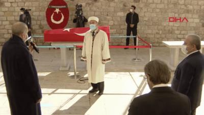 Burhan Kuzu'ya son görev… Cumhurbaşkanı Erdoğan da katıldı…