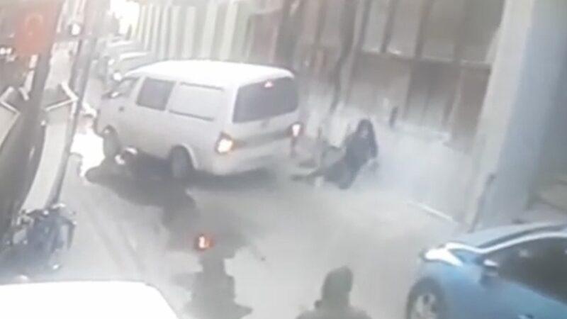 Bursa'da görünmez kaza kameralara yansıdı