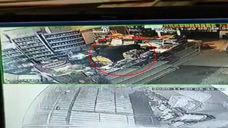 Bursa'da market ve manava giren hırsız kamerada