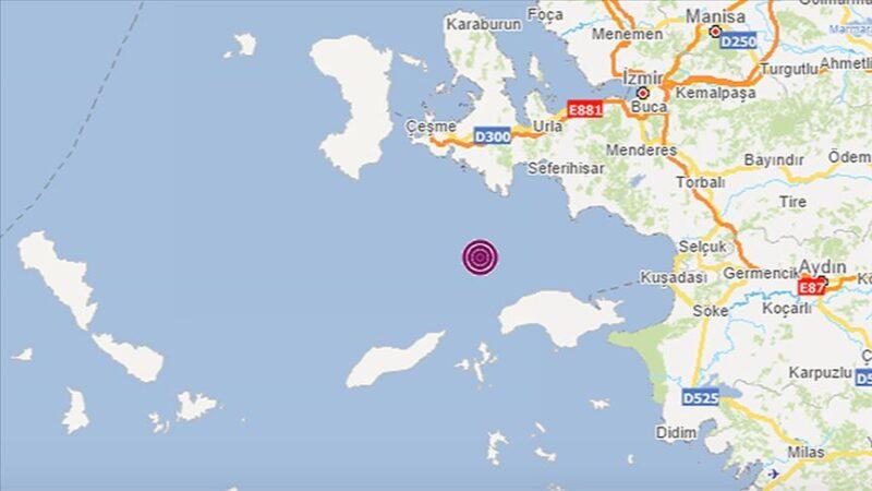 İzmir Urla açıklarında deprem
