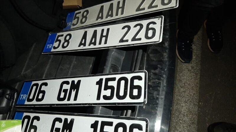 Sahte plaka kullanan sürücüye 28 bin lira ceza