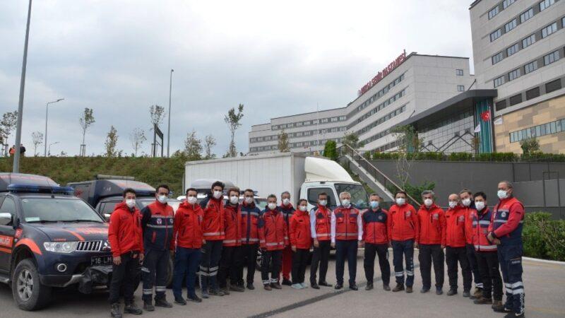 UMKE ekibi Bursa'ya döndü