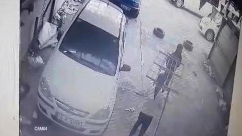 Yer: Bursa… Oto yıkamacıdaki hırsızlık kamerada