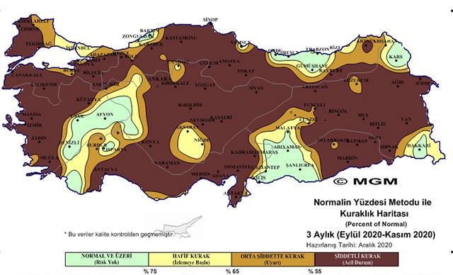 Meteoroloji'nin haritasında korkutan görüntü