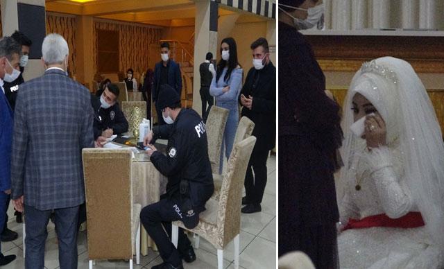 Bursa'da 'düğün' baskını! Gelin gözyaşlarına boğuldu