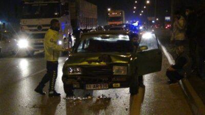 Bursa'da 2 otomobil çarpıştı…1 yaralı