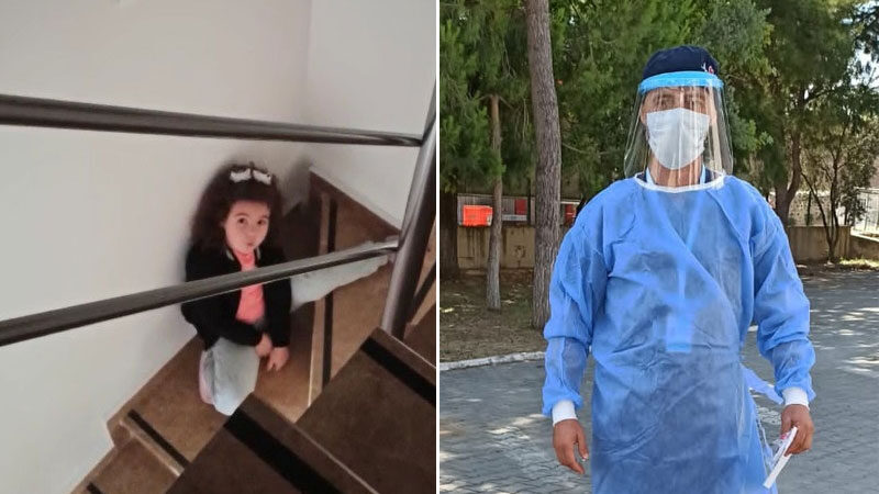 Görüntüler Bursa'dan… Babasına böyle seslendi: 'Keşke yanına gelebilseydim'