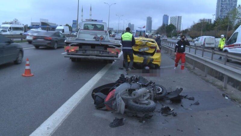 Motosiklet kazasında gerçek ortayı çıktı!