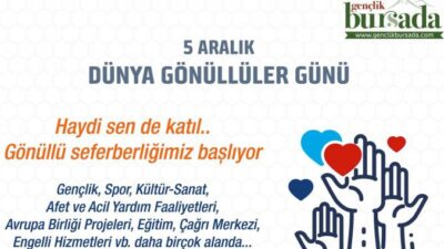 Bursa'da gönüllü seferberliği başlıyor