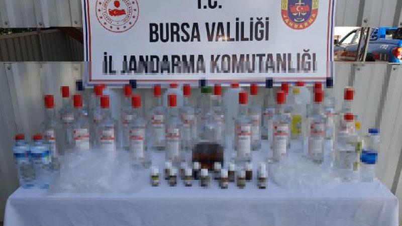 Bursa'da 3 ilçede sahte içki operasyonları: 4 gözaltı