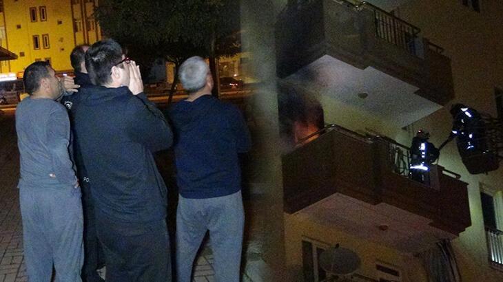Balkonda yanan odun ve kömürler mahalleliyi sokağa döktü!