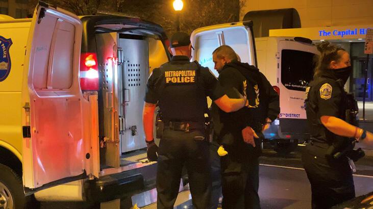 Washington'daki gösterilerde kan aktı, çok sayıda gözaltı var