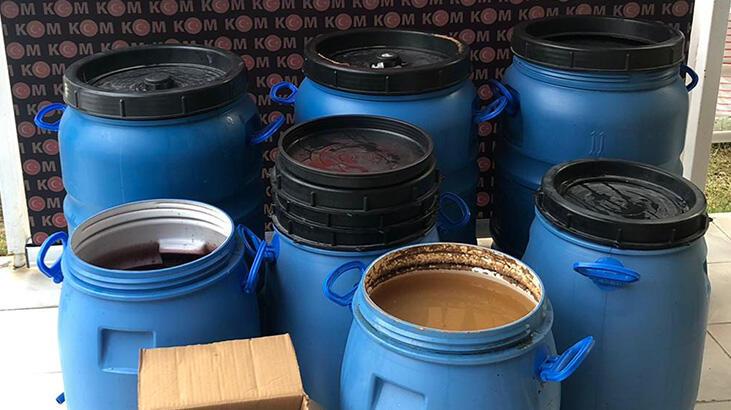 Kuşadası'nda 545 litre sahte içki ele geçirildi