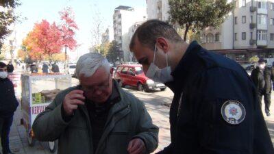 67'lik amcadan polisin 'neden maske takmıyorsun' sorusuna ilginç cevap