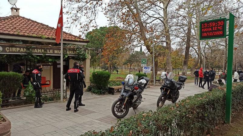Bursa'da parkta dehşet