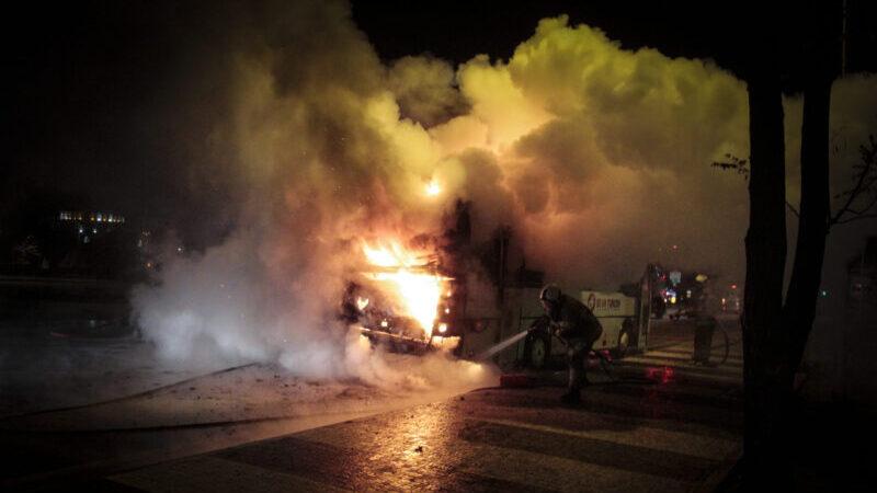 Görüntüler Bursa'dan… Alev alev yandı
