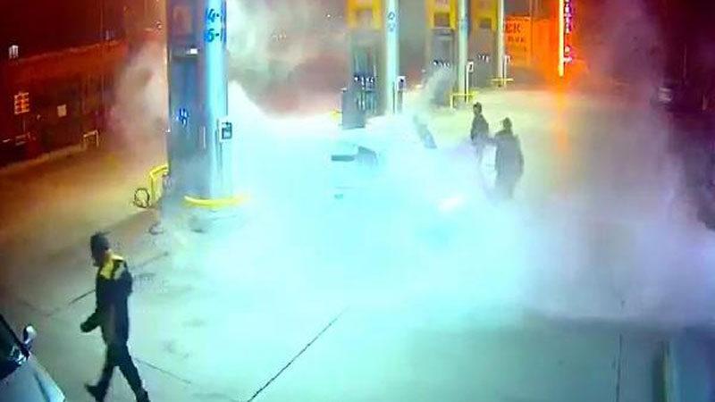 Bursa'da panik anları! Saniye saniye kamerada