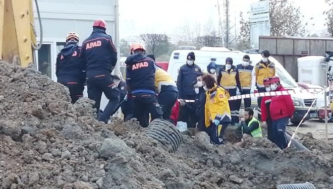 Ankara'da toprak altında kalan işçi hayatını kaybetti