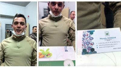 Sınır kahramanlarından Osmangazi'ye selam