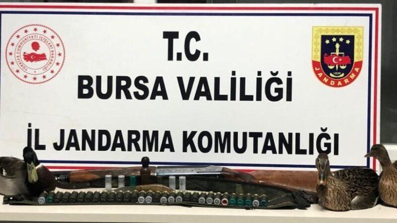 Bursa'da ava giden avcılar gelirken jandarmaya av oldular