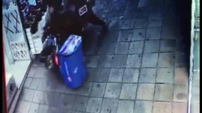 Bursa'da ilginç kazalar güvenlik kameralarında