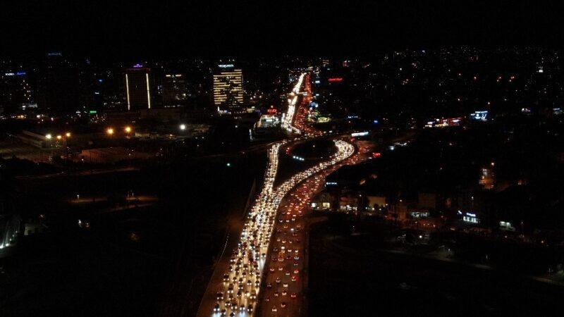 Bursa'da kısıtlama öncesi trafikte rekor yoğunluk