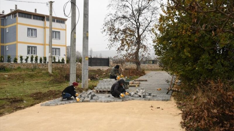Deydinler Mahallesi'nde 2 sokak parke taşla kaplanıyor