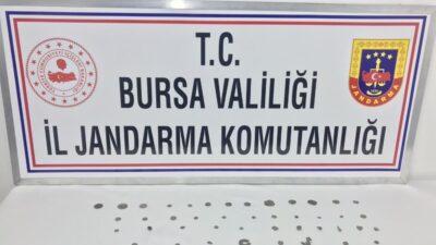 Harmancık'ta tarihi eser kaçakçılarına darbe