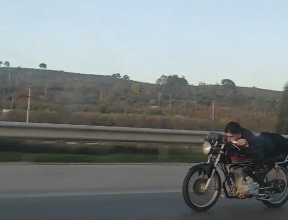 Bursa'da motosiklet üzerinde ölümüne yolculuk