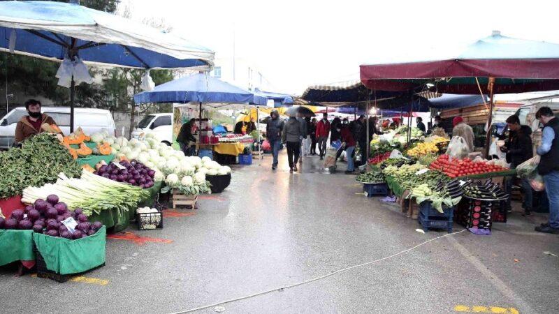 Nilüfer'de bütün pazarlar hafta içinde kurulacak